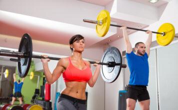 Vægtskiver bliver brugt til træning
